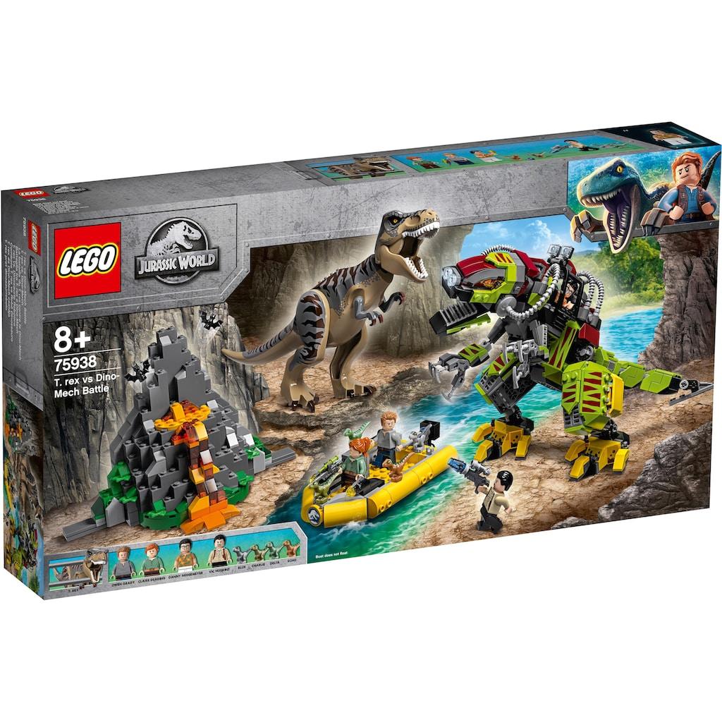 "LEGO® Konstruktionsspielsteine ""T. rex vs. Dino-Mech (75938), LEGO® Jurassic World™"", Kunststoff, (716-tlg.)"