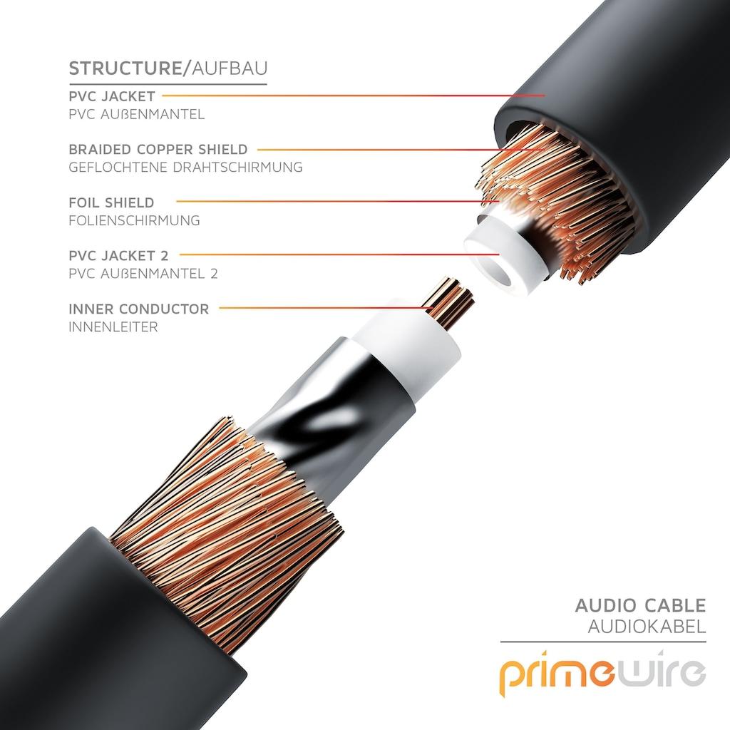 Primewire Subwoofer-Cinch Audio-Kabel mehrfach geschirmt »1x Cinch zu 1x Cinch / Premium Series«