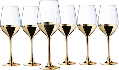 Leonique Weinglas »Donella«, (Set, 6 tlg.), mit Golddekor, 6-teilig kaufen