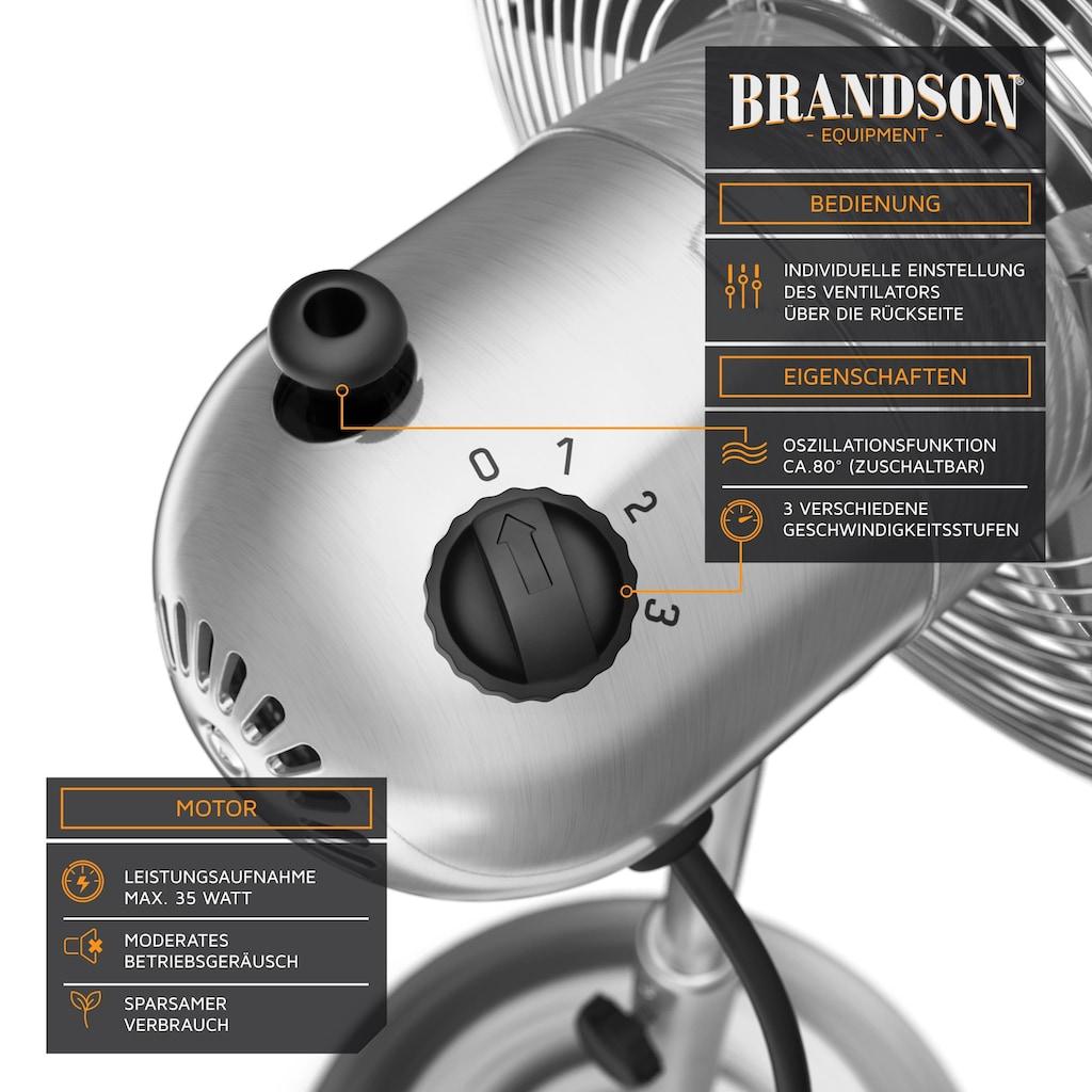 Brandson Standventilator im Chrom Design