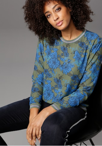 Aniston SELECTED Shirtbluse, mit glitzernden Bündchen kaufen