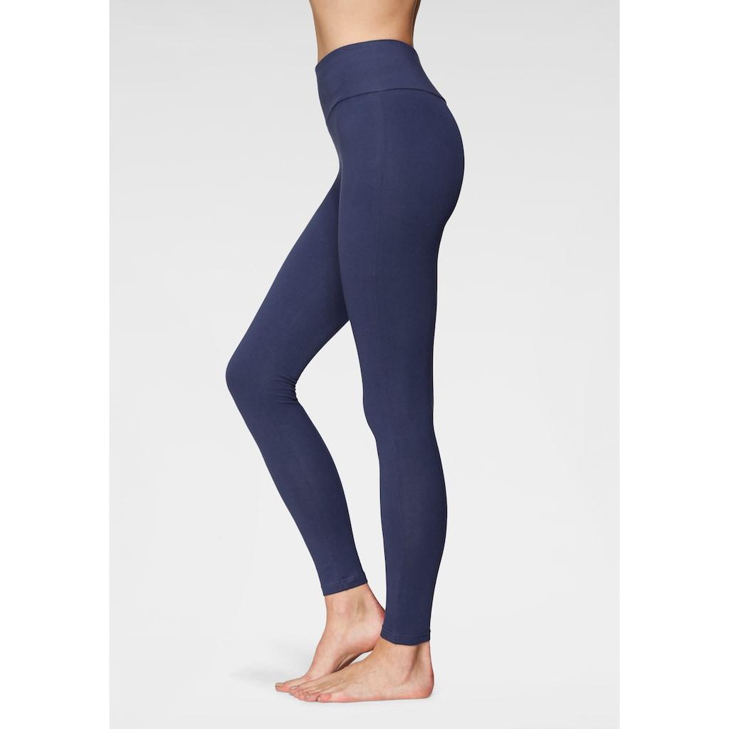 LASCANA Leggings, mit breitem Bündchen