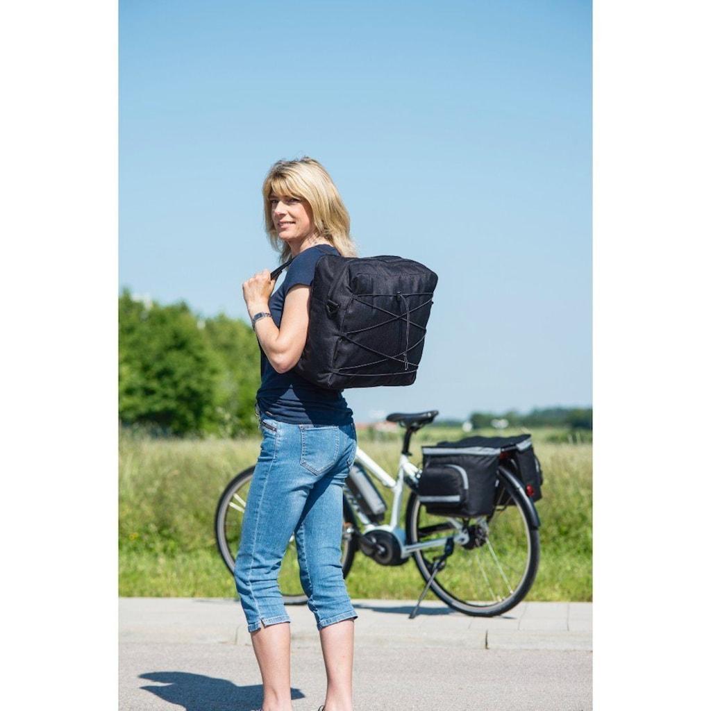 Hama Gepäckträgertasche Fahrrad 3tlg mit Rucksack u. Regenschutz