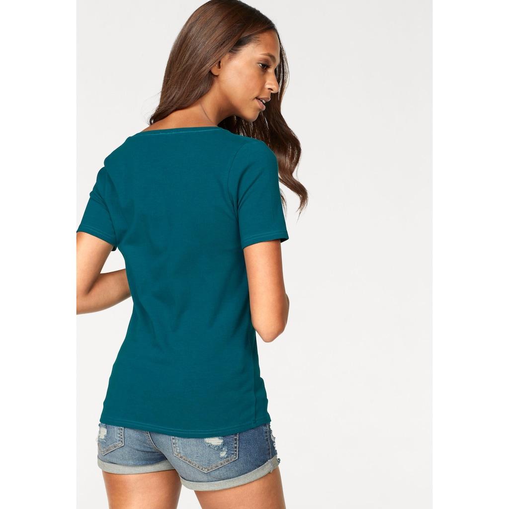 Vivance Kurzarmshirt, aus elastischer Baumwoll-Qualität