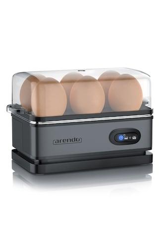 Arendo Eierkocher mit Warmhaltefunktion für 6 Eier »SIXCOOK Grey« kaufen