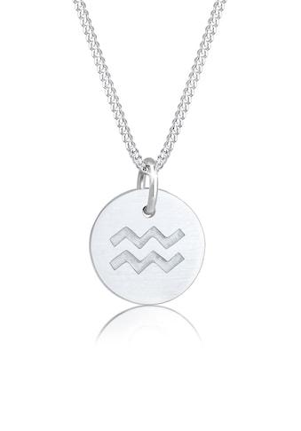 Elli Kette mit Anhänger »Sternzeichen Wassermann Astro Matt 925 Silber« kaufen