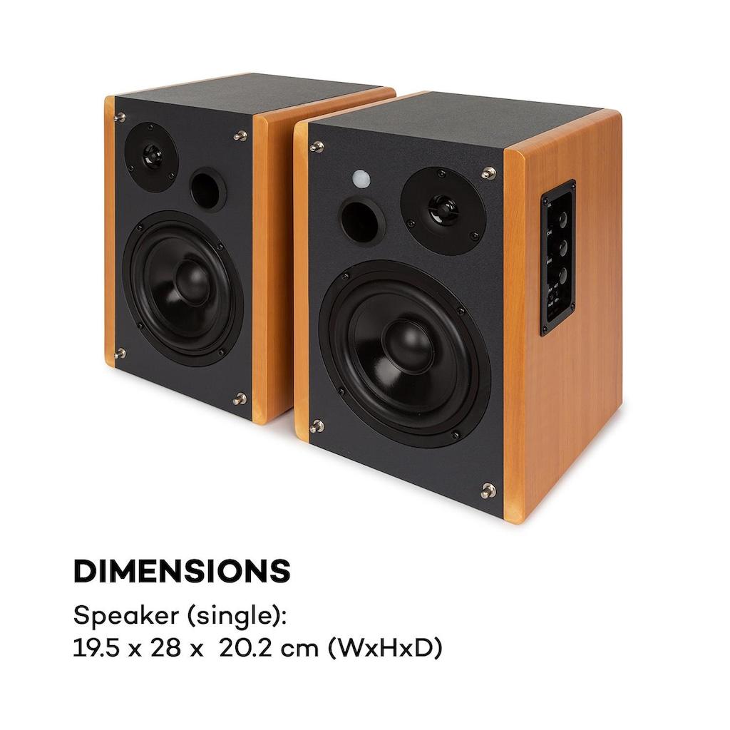 Auna Regallautsprecher Aktivboxen-Paar 2x30W opt/koaxial »Linie 500 A«