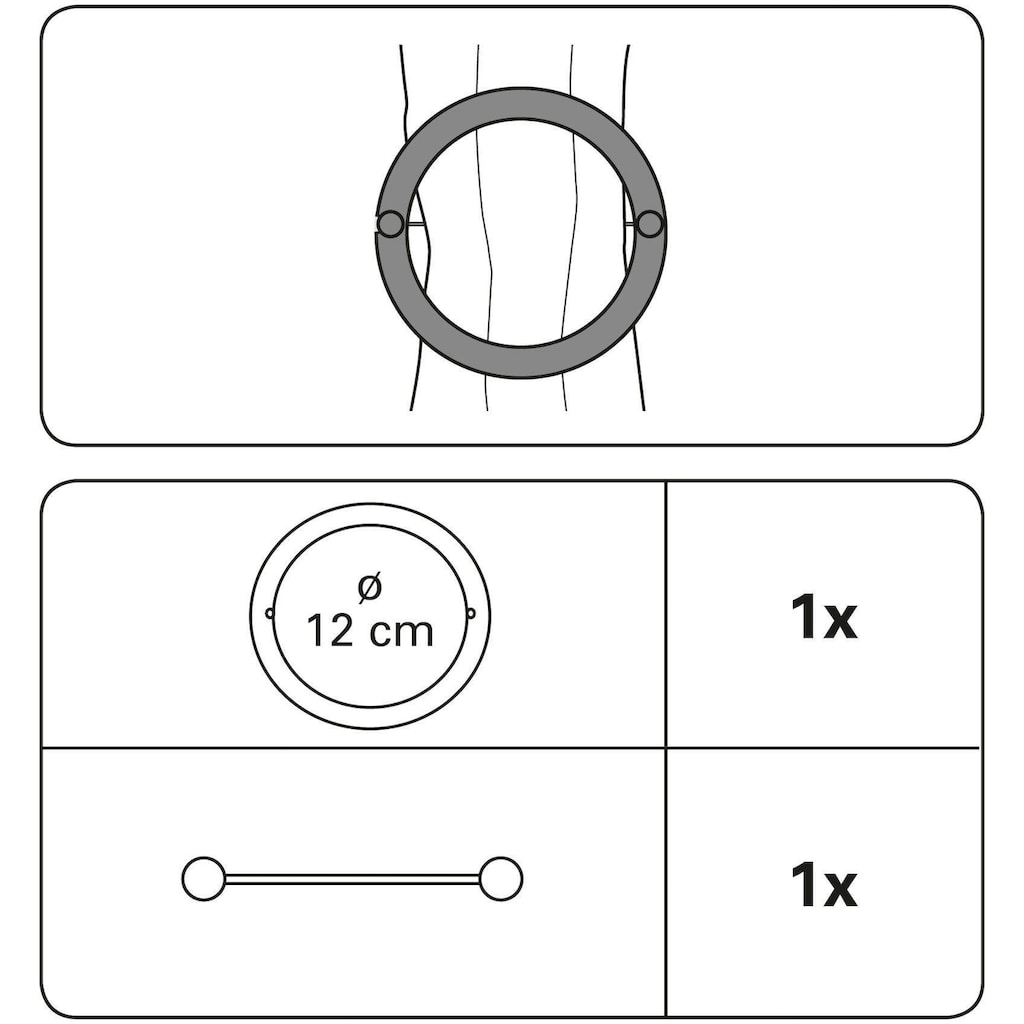 GARDINIA Dekoklammer »Dekospange Ring«, (1 St.)