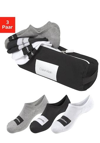 Calvin Klein Füßlinge, (Beutel, 3 Paar), mit Markenschriftzug kaufen
