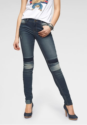Arizona Slim - fit - Jeans »im Patchwork - Look« kaufen