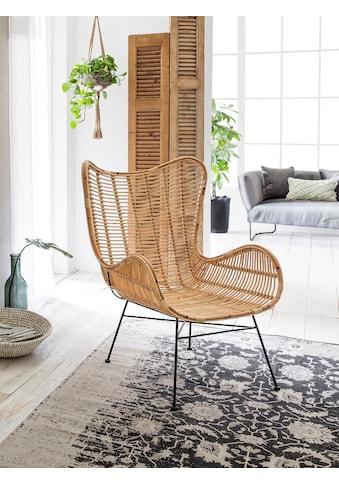 SIT Sessel »Sit&Chairs«, mit geschwungenen Armlehnen, in schwarz oder natur, Shabby Chic, Vintage kaufen