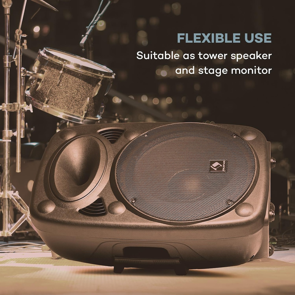 "Auna Aktiver PA Lautsprecher 15"" 800 W max. USB- und SD-Ports MP3 »SLK-15-A«"