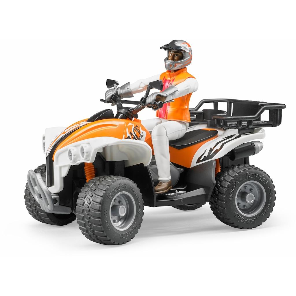 Bruder® Spielzeug-Quad »Quad mit Fahrer (Kleidungsfarben gemischt sortiert)«, Made in Germany