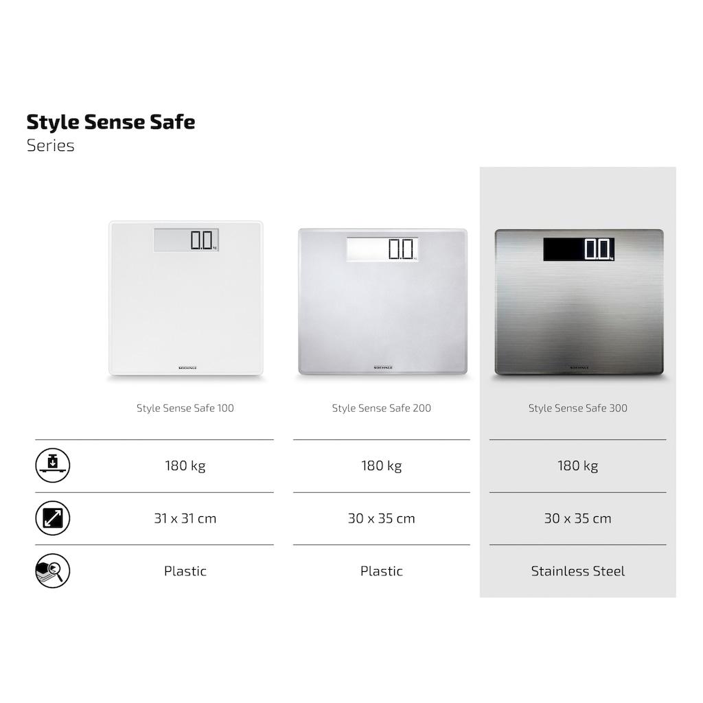 Soehnle Personenwaage »PWD Style Sense Safe 300«, Personenwaage mit spezieller Oberfläche