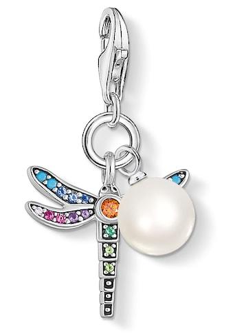 THOMAS SABO Charm-Einhänger »Libelle silber mit Perle, 1833-340-7«, mit Emaille,... kaufen