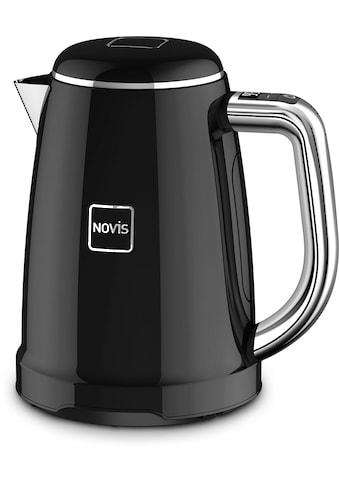 NOVIS Wasserkocher »KTC1 schwarz«, 1,6 l, 2400 W, mit elektronischer... kaufen