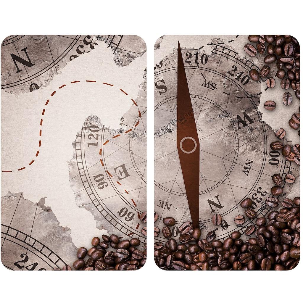WENKO Herd-Abdeckplatte »Universal Kompass«, (Set, 2 tlg.)