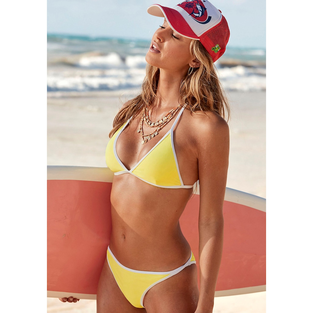 Venice Beach Triangel-Bikini-Top »L.A.«, mit Kontrastpiping