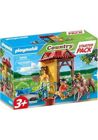 Playmobil® Konstruktions-Spielset »Starter Pack Reiterhof (70501), Country«, (41 St.),... kaufen
