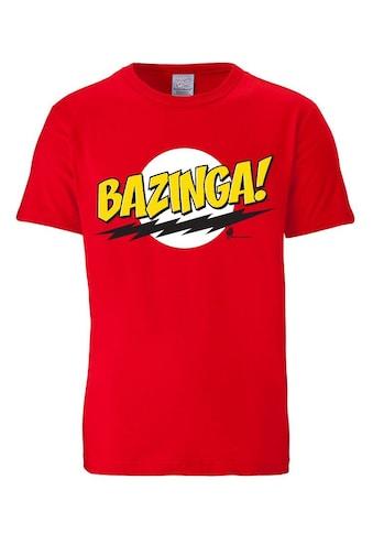 LOGOSHIRT T-Shirt mit coolem Bazinga-Frontdruck »Bazinga - The Big Bang Theory« kaufen