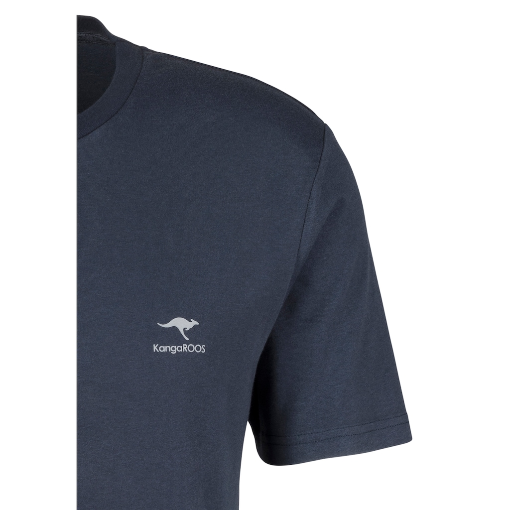 KangaROOS T-Shirt, mit kleinem Logodruck