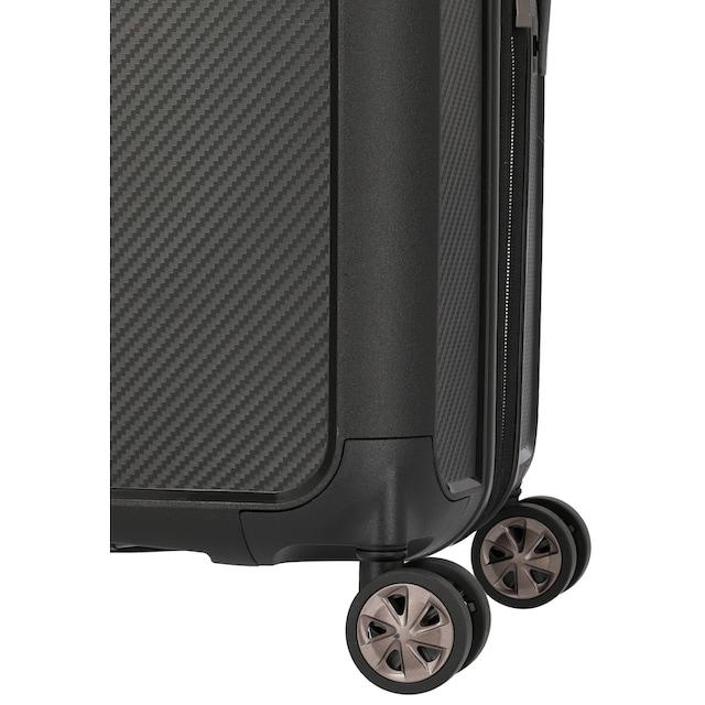 "TITAN® Hartschalen-Trolley ""Compax L, 77 cm, Black"", 4 Rollen"
