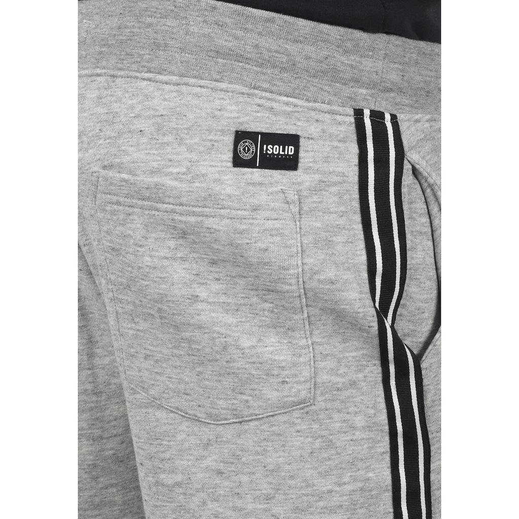 Solid Sweatshorts »Galen«, kurze Hose mit dekorativem Tape