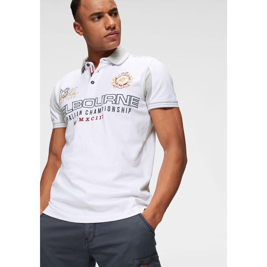 Bruno Banani Poloshirt, Mit großer Bruststickerei