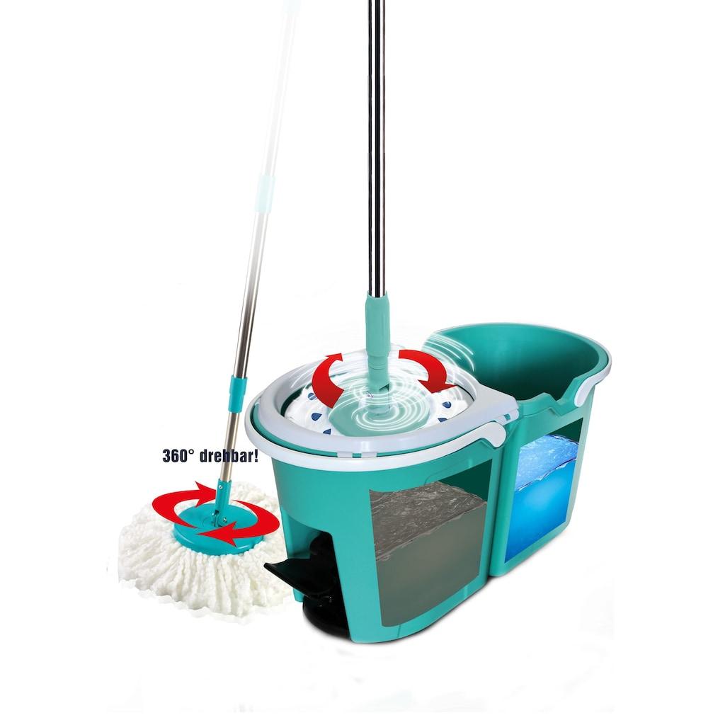 TELESHOP Bodenwischer-Set »CLEVER SPIN«, Boden-Wischsystem incl. Trolley