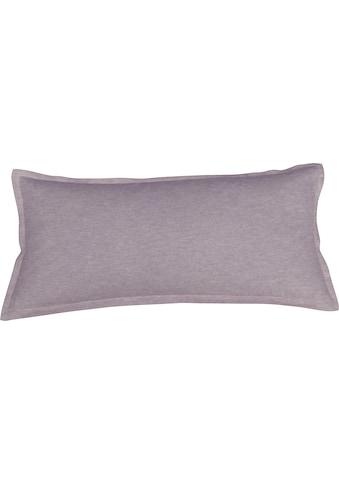 Schlafgut Kissenbezug »Melange Uni«, passend zu Spannbettlaken und Bettwäsche kaufen