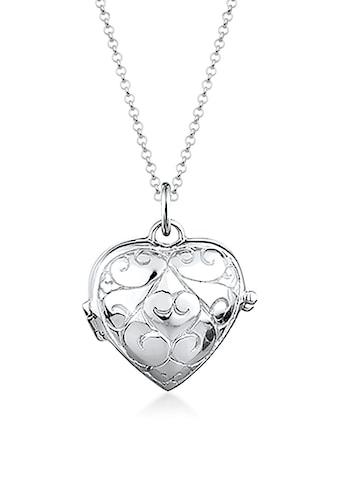 Elli Kette mit Anhänger »Herz-Medaillon Amulett Ornament 925 Silber« kaufen