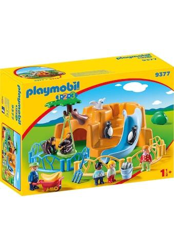 "Playmobil® Konstruktions - Spielset ""Zoo (9377), Playmobil 1 - 2 - 3"", Kunststoff kaufen"