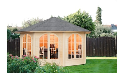 WOLFF FINNHAUS Holzpavillon »Lugano 42 - B«, BxT: 474x474 cm kaufen