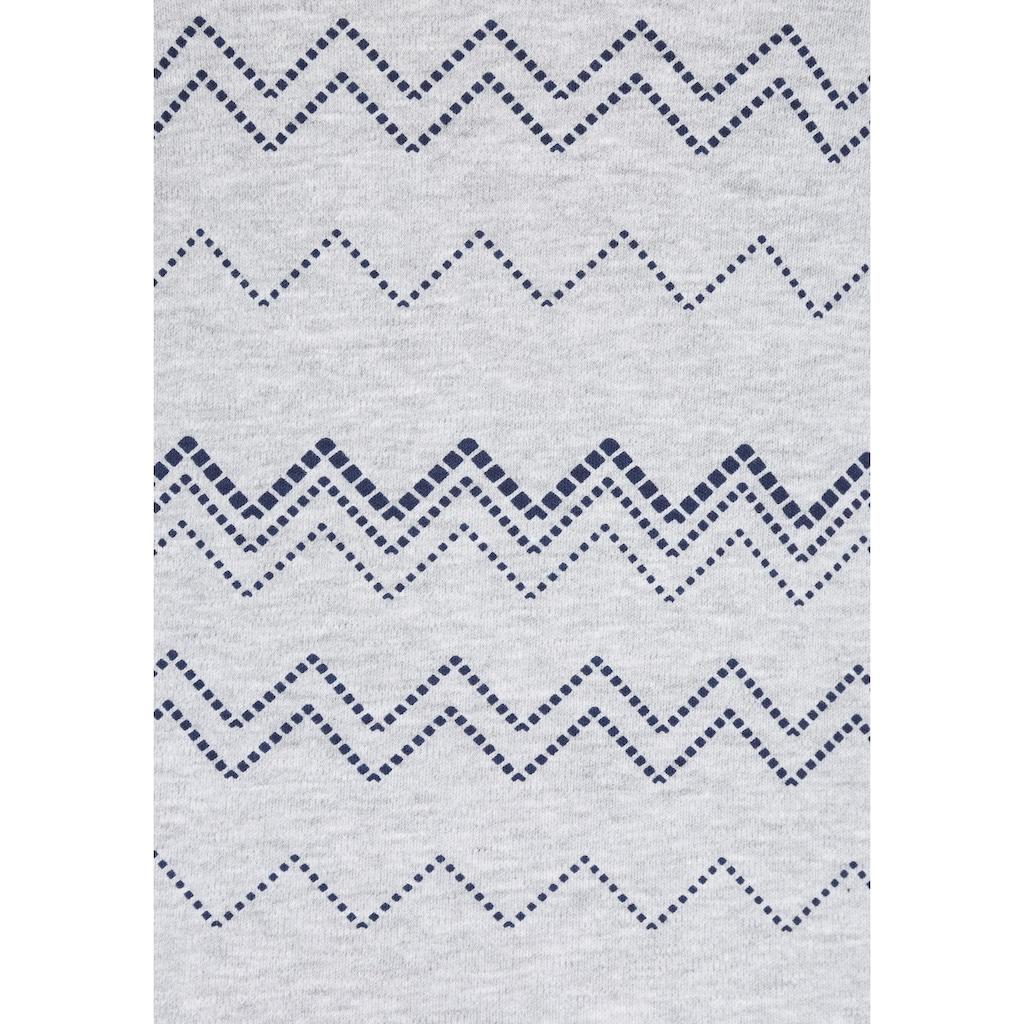 KangaROOS Sweatkleid, mit graphischem Allover-Druck