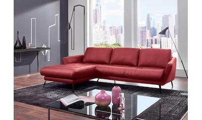 W.SCHILLIG Ecksofa »softy«, mit dekorativer Heftung im Sitz, Füße schwarz... kaufen