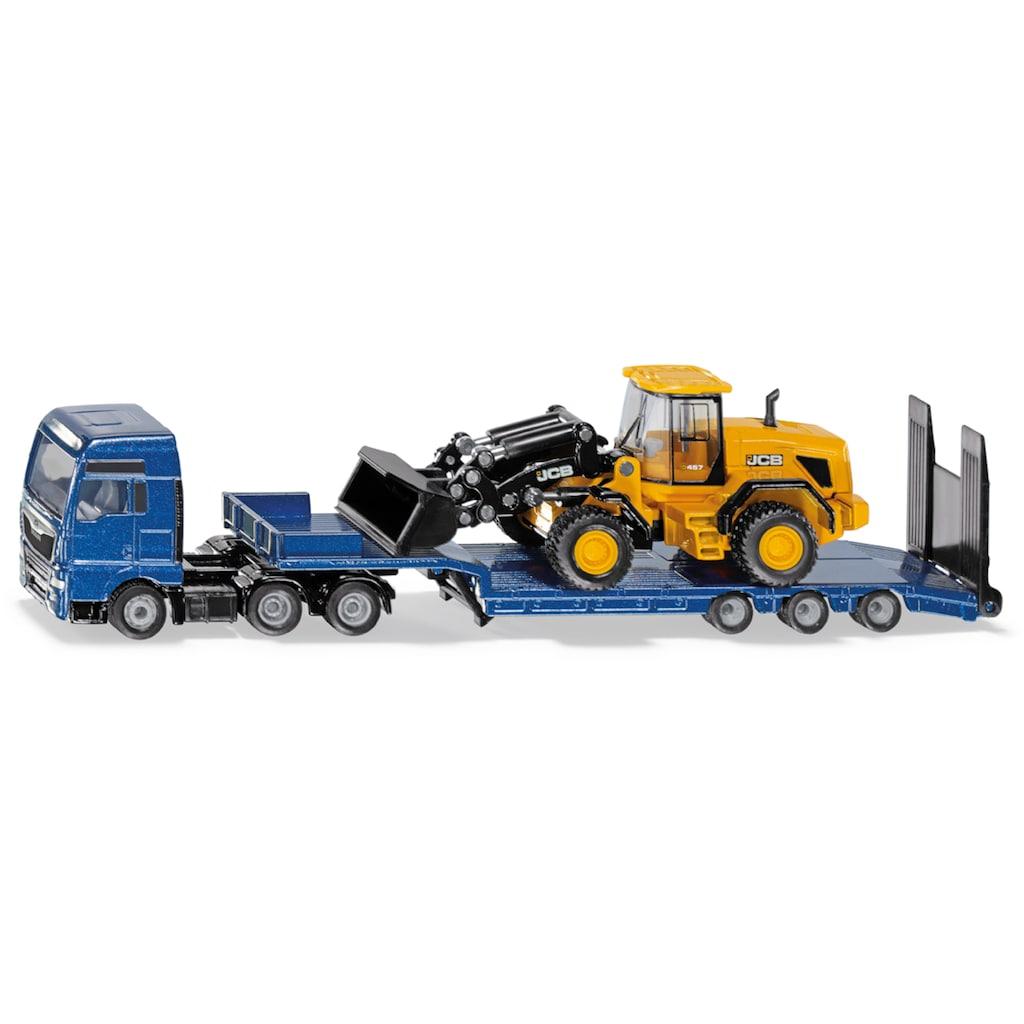 Siku Spielzeug-LKW »SIKU Super, MAN mit Tieflader und JCB Radlader«