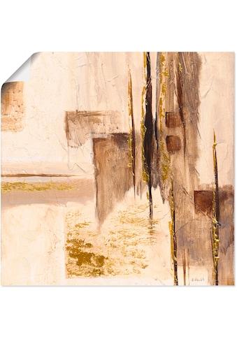 Artland Wandbild »Goldene Silhouette I« kaufen