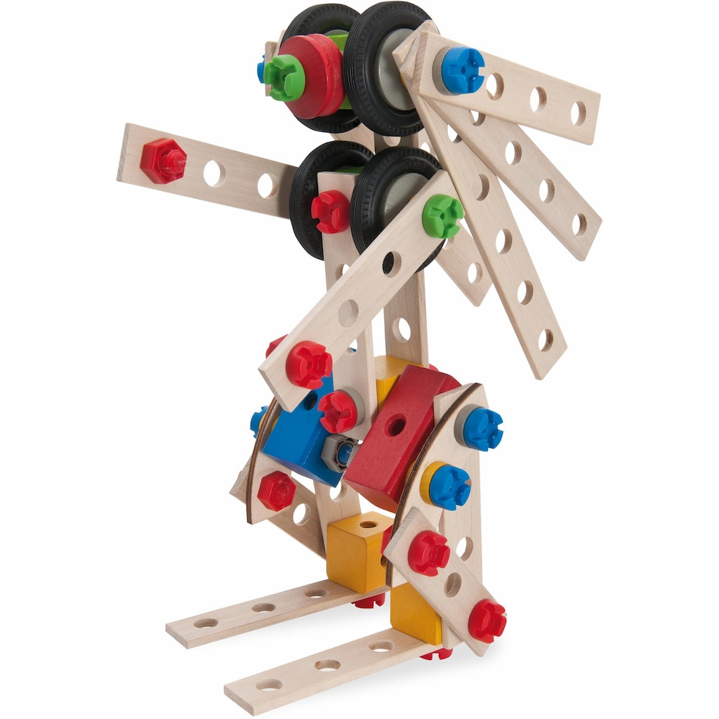 Eichhorn Konstruktionsspielsteine »Constructor große Lok, 100tlg.«, (100 St.), Made in Germany, FSC®-Holz aus gewissenhaft bewirtschafteten Wäldern