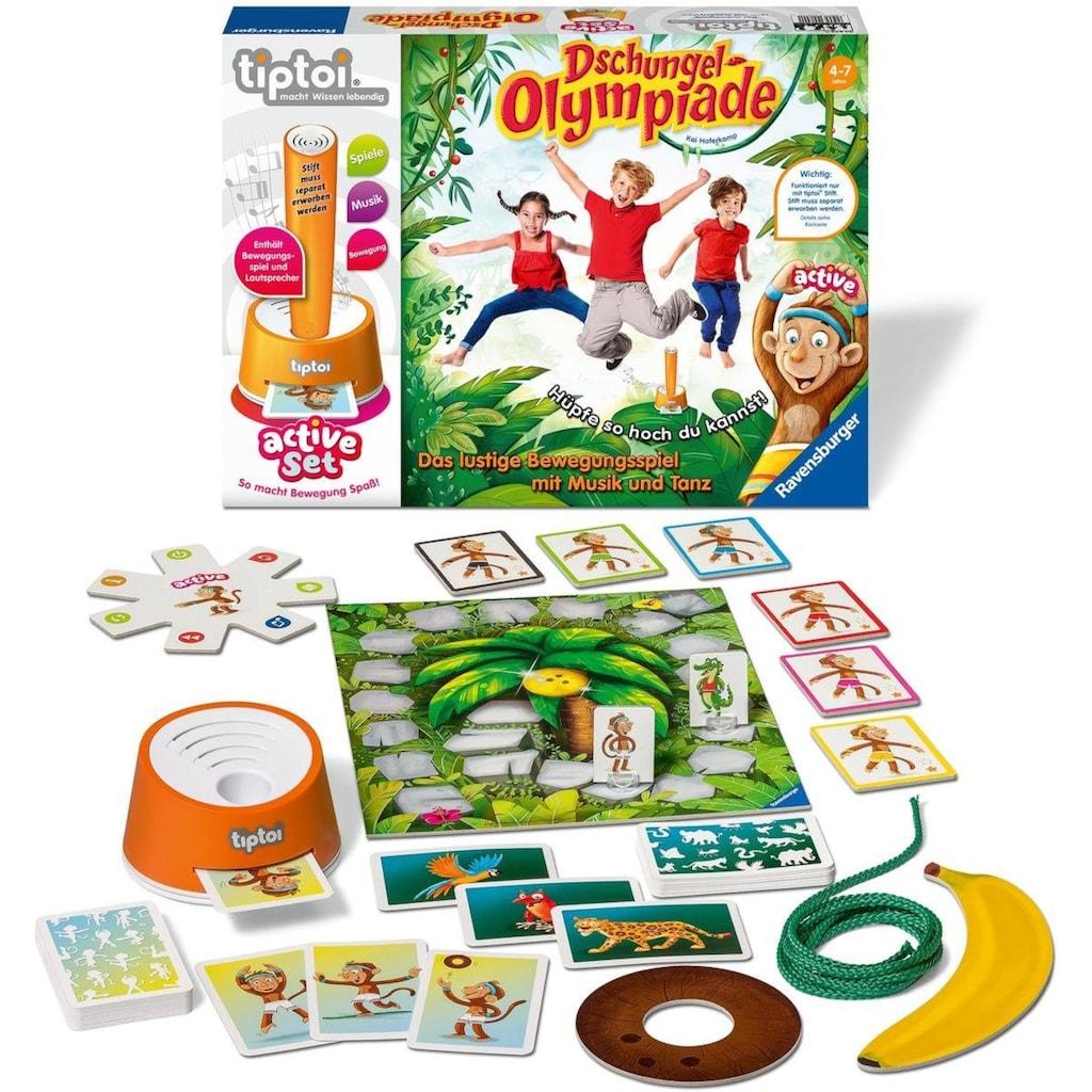 Ravensburger Spiel »tiptoi® active Set Dschungel-Olympiade«, Made in Europe, FSC® - schützt Wald - weltweit