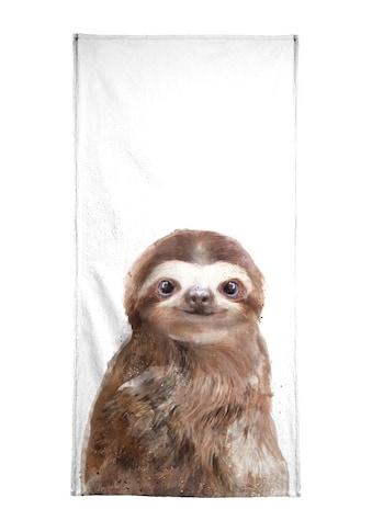 Juniqe Handtuch »Little Sloth«, (1 St.), Weiche Frottee-Veloursqualität kaufen