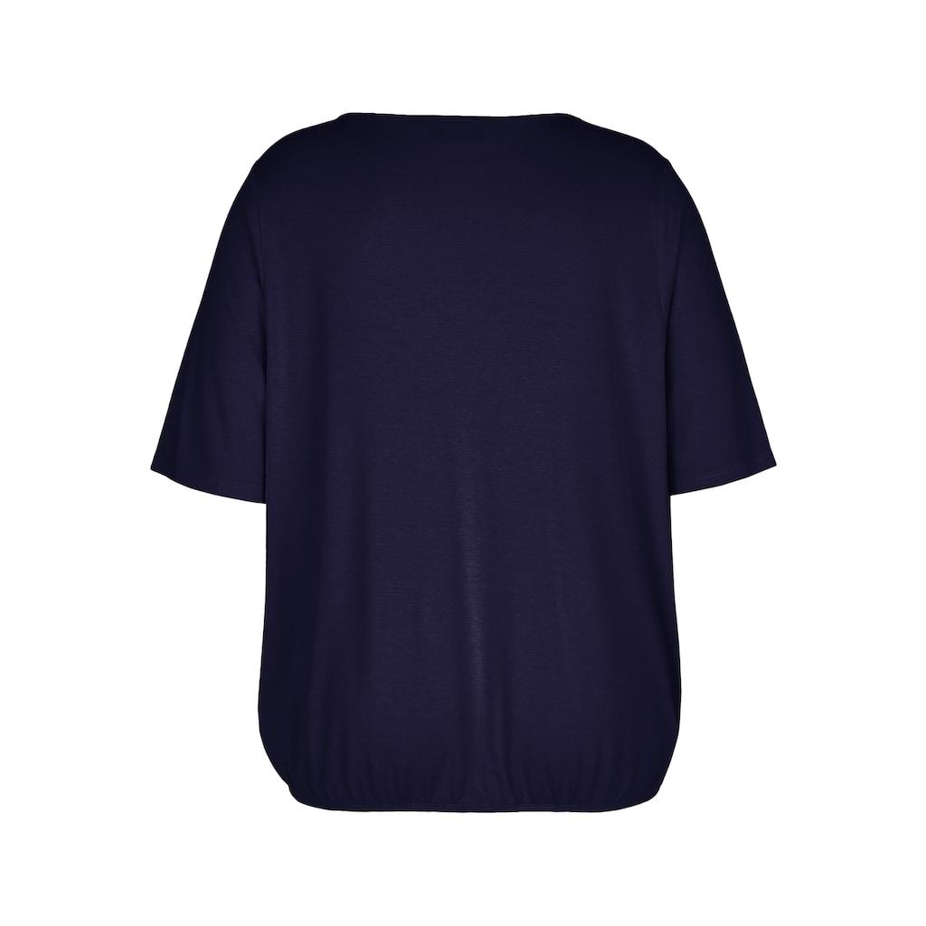 VIA APPIA DUE Blusenshirt, mit Schmuckelement