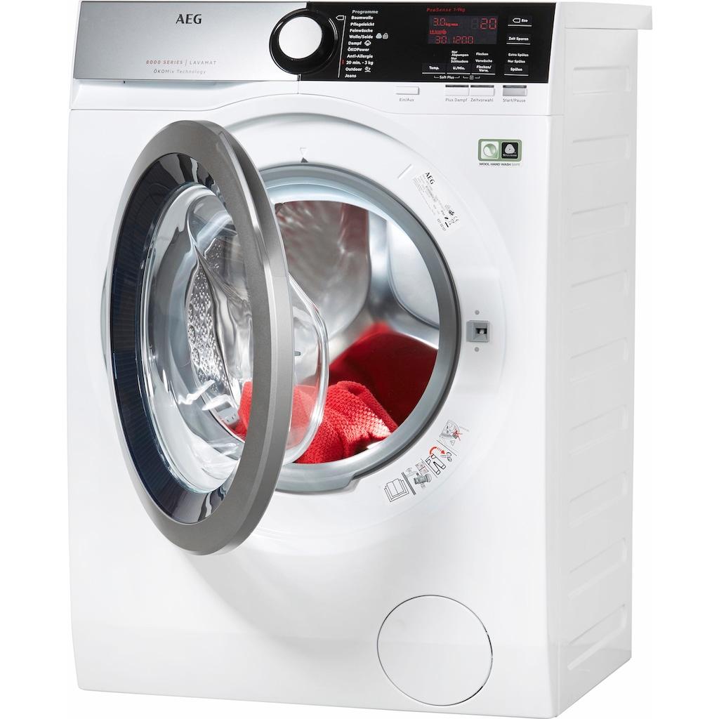 AEG Waschmaschine »LAVAMAT L8FE76695«, LAVAMAT, L8FE76695, 9 kg, 1600 U/min, ÖKOMix - Faserschutz