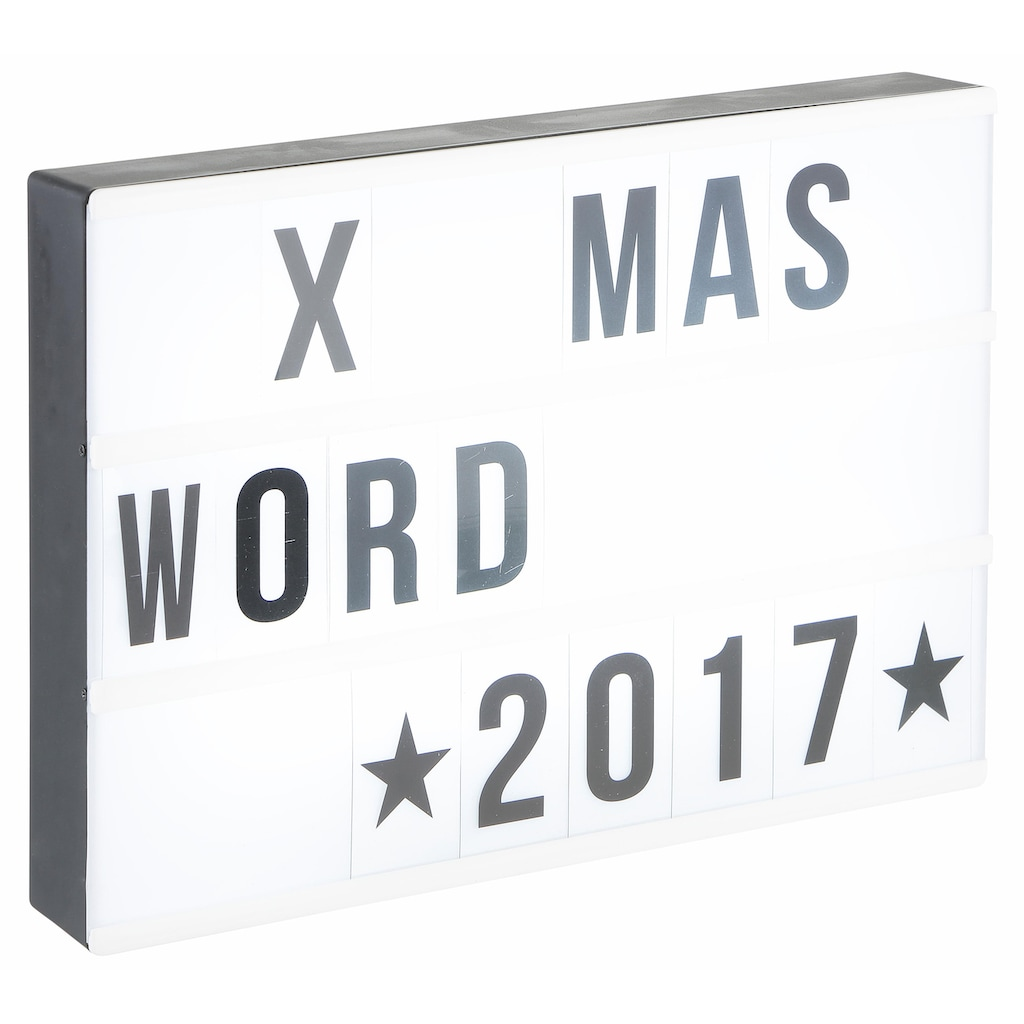 EASYmaxx LED-Bild »Leuchtkasten«, für individuelle Textbotschaften