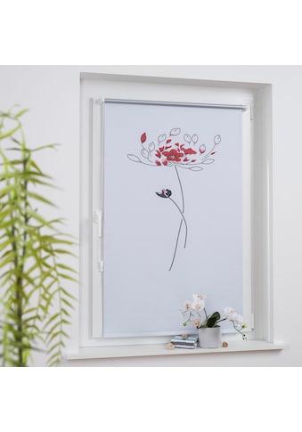 Seitenzugrollo »Druckdesign Blume«, Liedeco, verdunkelnd, ohne Bohren, freihängend kaufen
