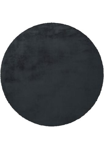 andas Fellteppich »Alvin«, rund, 45 mm Höhe, Kaninchenfell-Optik, Kunstfell, Wohnzimmer kaufen