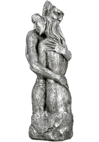 GILDE Dekofigur »Skulptur Embrace, silberfarben«, Dekoobjekt, Höhe 49, umarmendes... kaufen