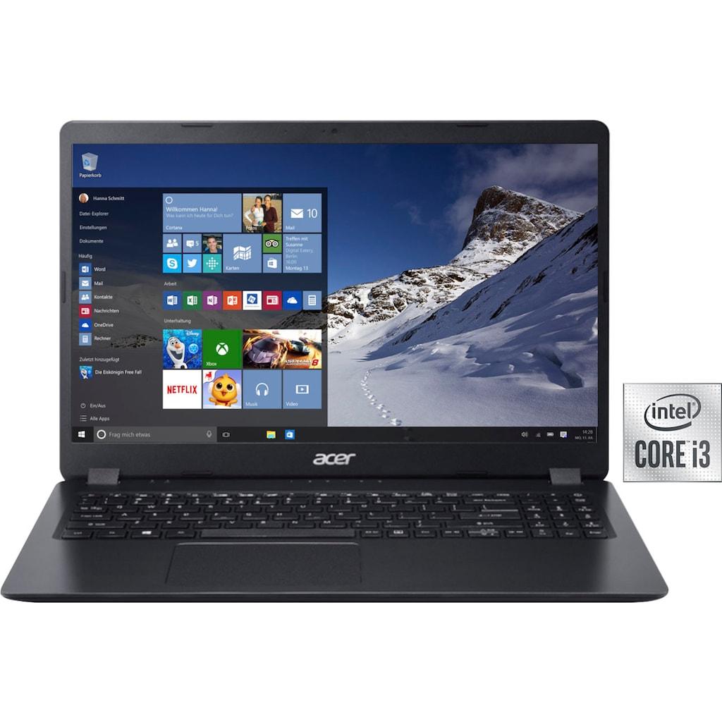 "Acer Notebook »A315-56-3642«, (39,62 cm/15,6 "" Intel Core i3 UHD Graphics\r\n 512 GB SSD), Kostenloses Upgrade auf Windows 11, sobald verfügbar"