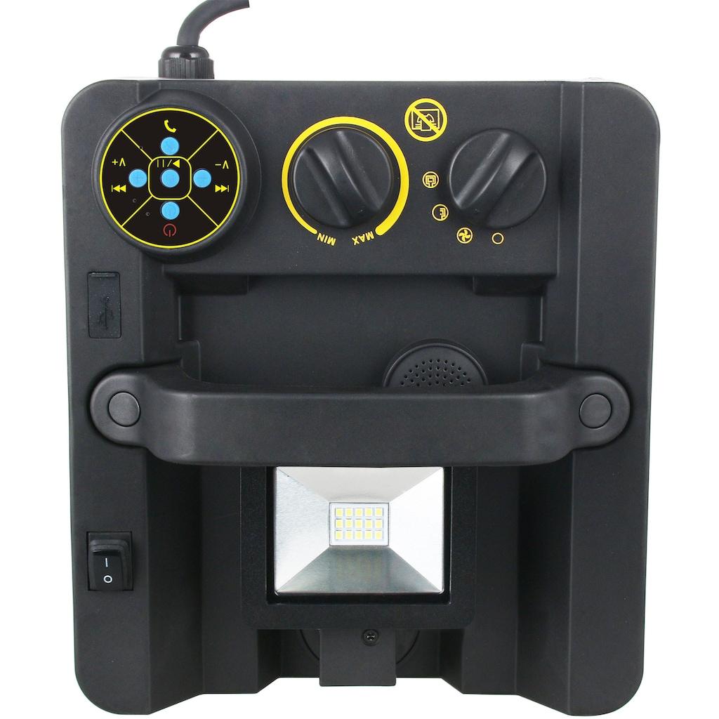 Emerio Heizlüfter »FH-117205«, 3300 W, mit LED-Strahler und Lautsprecher