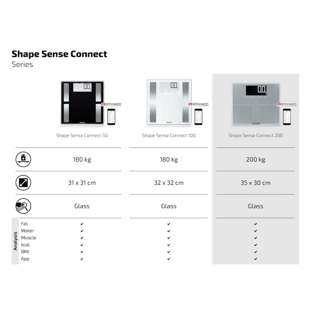 Soehnle Körper-Analyse-Waage »Shape Sense Connect 200«, mit Bluetooth®