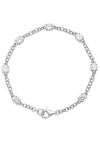 Firetti Silberarmband »Rhodiniert, massiv«, mit Zirkonia in Krappenfassung kaufen